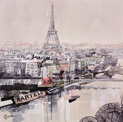 Parisian Rooftops Study by Tom Butler -  sized 17x17 inches. Available from Whitewall Galleries